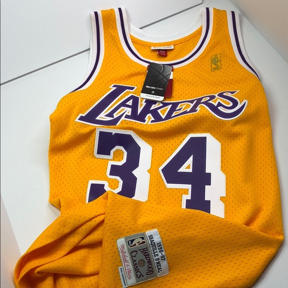 0d562e1e Mitchell & Ness Other | Authentic Shaquille Oneal 34 La Lakers ...